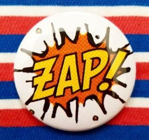 2.25 inch Zap! button badge pin