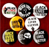 1 inch set of 8 Black lives matter buttons badge pins