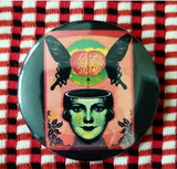 2.25 inch Monarch Mind Control button badge pin