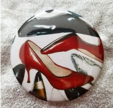 2.25 inch Shoes button badge pin