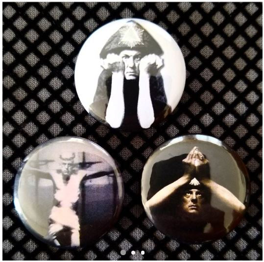 1.25 inch Aliester Crowley set of 3 pins
