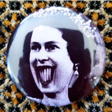 2.25 inch horror queen button badge pin