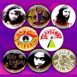 1 inch roky Erickson set of 8 buttons badge pins