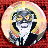 2.25 inch Mad Scientist button badge pin