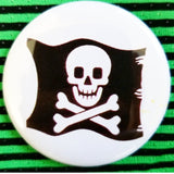 2.25 inch pirate flag button badge pin