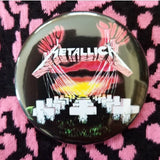 2.25 inch Metallica button badge pin