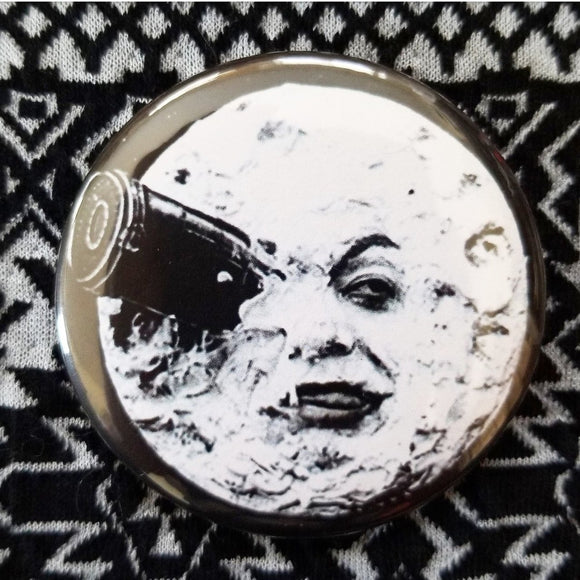 2.25 inch a trip to the moon button badge pin