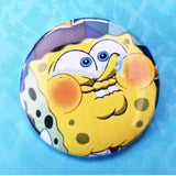 Spongebob Laughing button badge pin