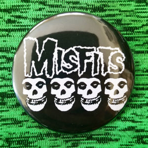 2.25 inch misfits button badge pin
