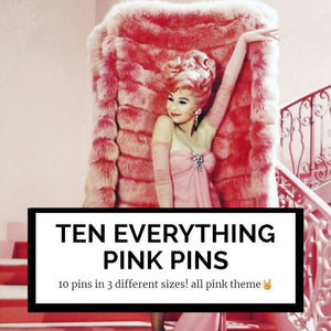 10 everything pink mystery pins