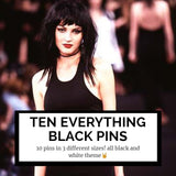 10 everything black mystery pins