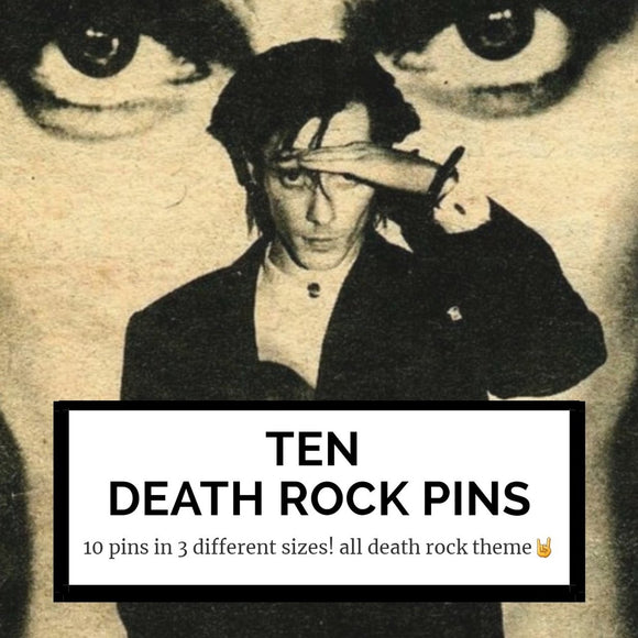 10 death rock mystery pins