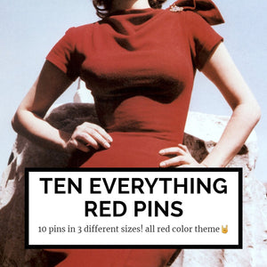 10 everything red mystery pins
