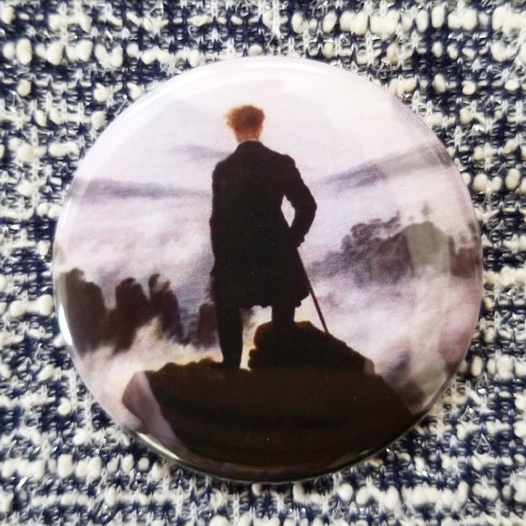 2.25 inch wanderer above the sea button badge pin