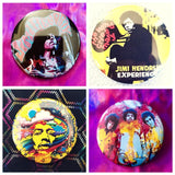 Jimi Hendrix set of 4 new buttons pin badges
