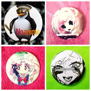 Anime set of 4 new buttons pin badges