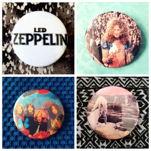 Led zeppelin set of 4 new buttons pin badges