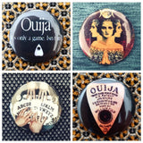 Ouija board set of 4 new buttons pin badges