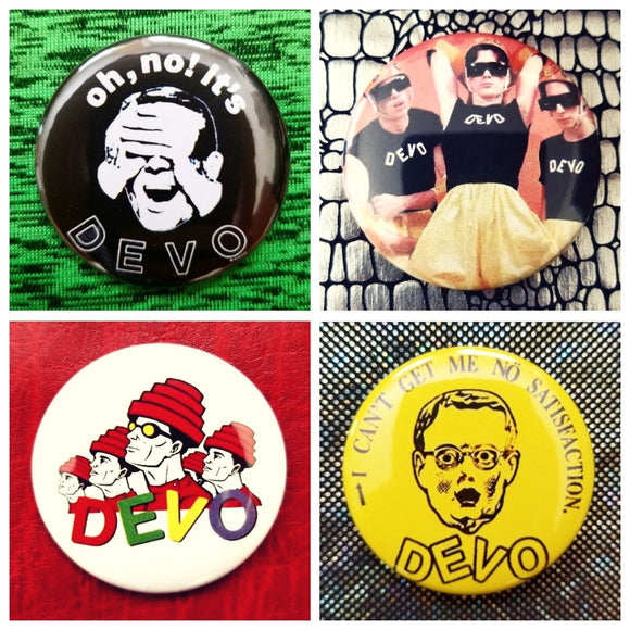 Devo set of 4 new buttons pin badges
