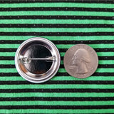 2.25 inch grind bands button badge pin