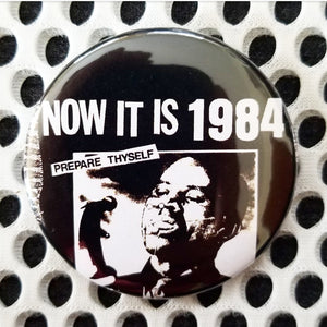 2.25 inch now its 1984 button badge pin