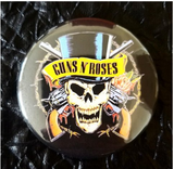 2.25 inch guns and roses button badge pin