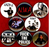NWA buttons badge pins set of 8