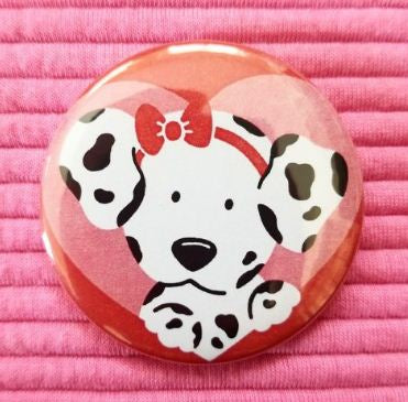 2.25 inch Dalmatian button badge pin