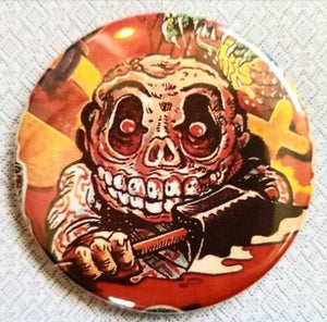 2.25 inch Mad ball button badge pin