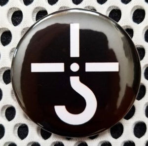 2.25 inch Blue Oytser Cult button badge pin