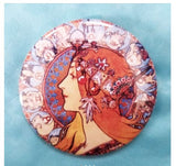 2.25 inch Goddess button badge pin