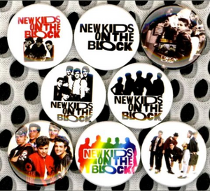 1 inch set of 8 New kids on the block NKOTB buttons badge pins