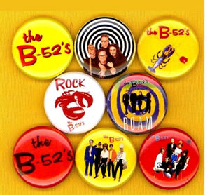The B-52's buttons badge pins set of 8
