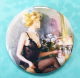 2.25 inch Getting Ready Painting button badge pin