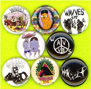 Wavves buttons badge pins set of 8