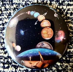 2.25 inch Outer Space button badge pin