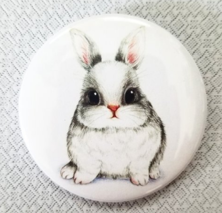 2.25 inch Chubby Bunny button badge pin