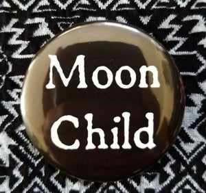 2.25 inch Moon Child button badge pin