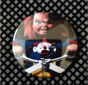 2.25 inch Chucky button badge pin