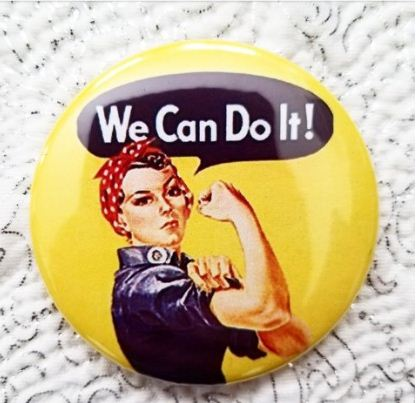 2.25 inch We Can Do it! button badge pin