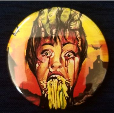 2.25 inch Vomit Horror button badge pin