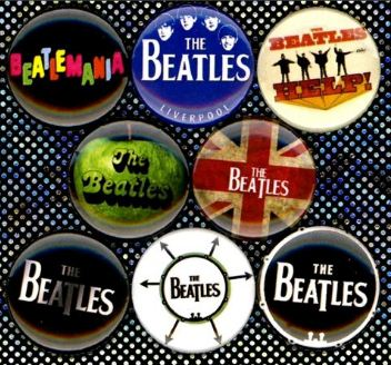 1 inch set of 8 The Beatles buttons badge pins
