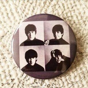 2.25 inch The Beatles A Hard Days Night button badge pin