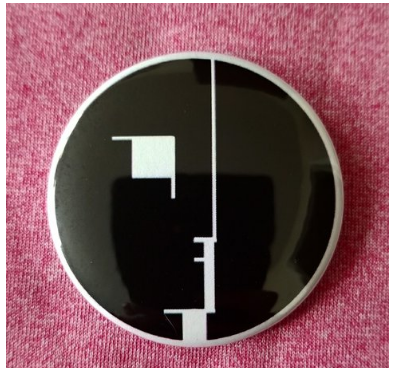 2.25 inch Bauhaus button badge pin