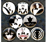 1 inch set of 8 Klaus nomi buttons badge pins