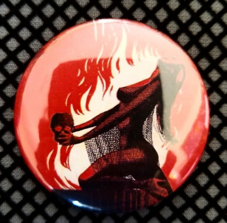 2.25 inch Devil Witch button badge pin