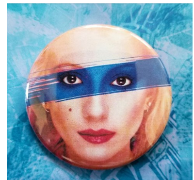 2.25 inch Missing Persons button badge pin