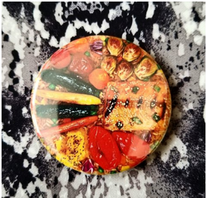2.25 inch Stir Fry button badge pin