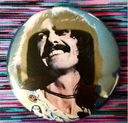 2.25 inch George Harrison Live button badge pin