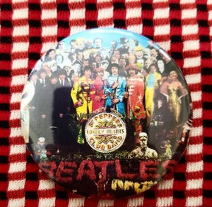 2.25 inch Beatles Lonely Hearts Club Band button badge pin